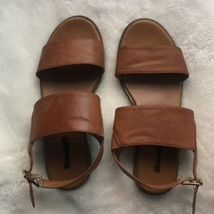 Large strapped sandals